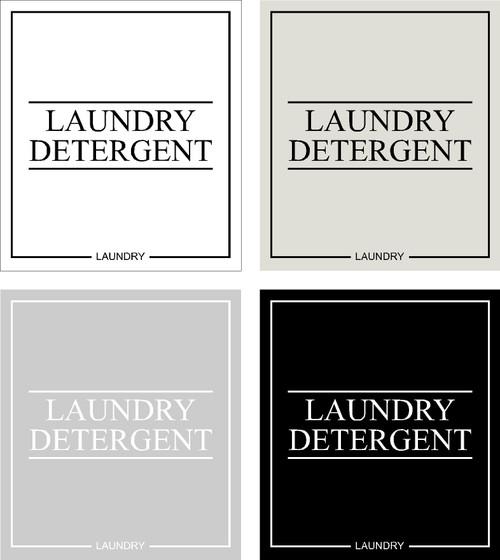 Minimal Laundry Detergent Label