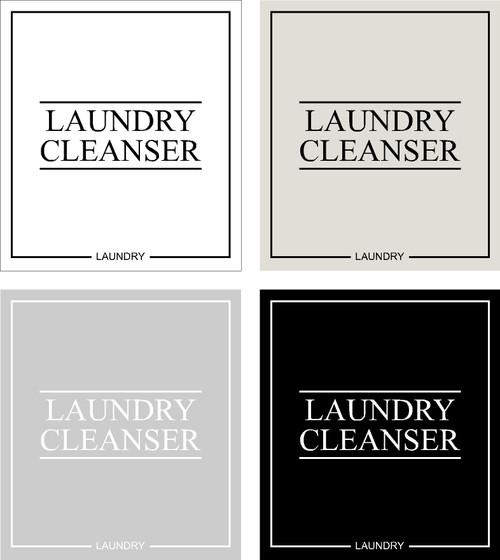 Minimal Laundry Cleanser Label