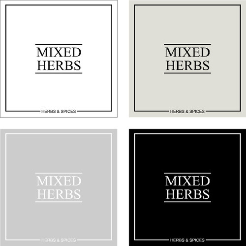 Minimal Mixed Herbs Label
