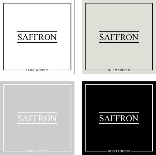 Minimal Saffron Label