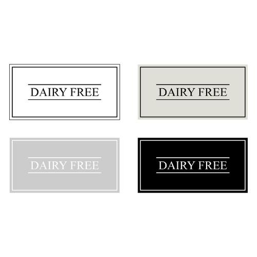 Minimal Dairy Free Label