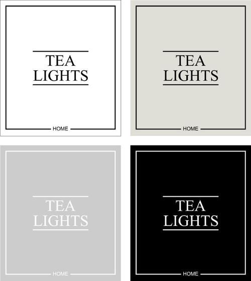 Minimal Tea Lights Label