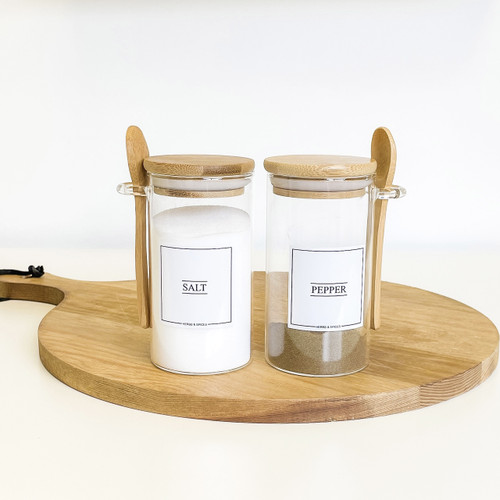 Minimal Salt & Pepper Set (Round)