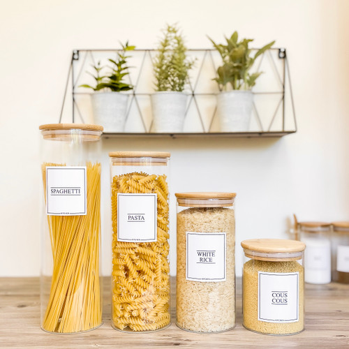 Minimal Food Storage Round Bamboo Kitchen Set