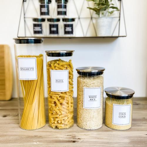 Minimal Food Storage Stainless Kitchen Set