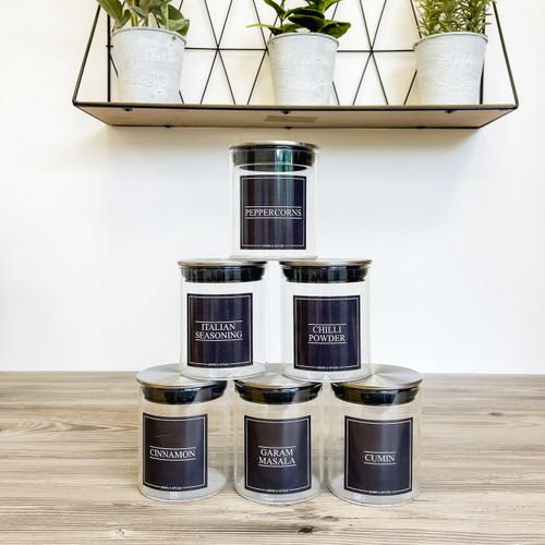 Minimal Stainless Spice Jars