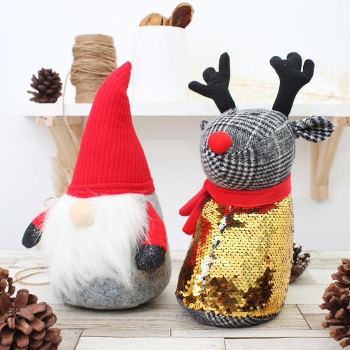 CHRISTMAS DOOR STOP - REINDEER OR SANTA