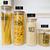 Set of 4 Glass Jars - Round Bamboo Bundle