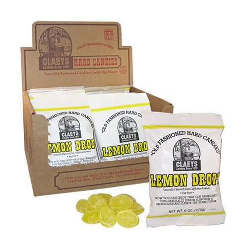 Claeys Old-Fashioned Hard Candy - Lemon Drop flavor