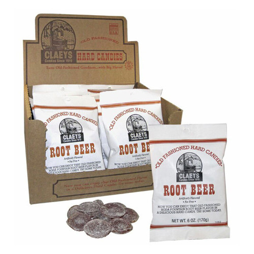 Claeys Old-Fashioned Hard Candy - Root Beer flavor