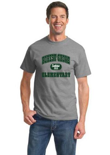 """Short Sleeve T-shirt with """"Established"""" Design"""