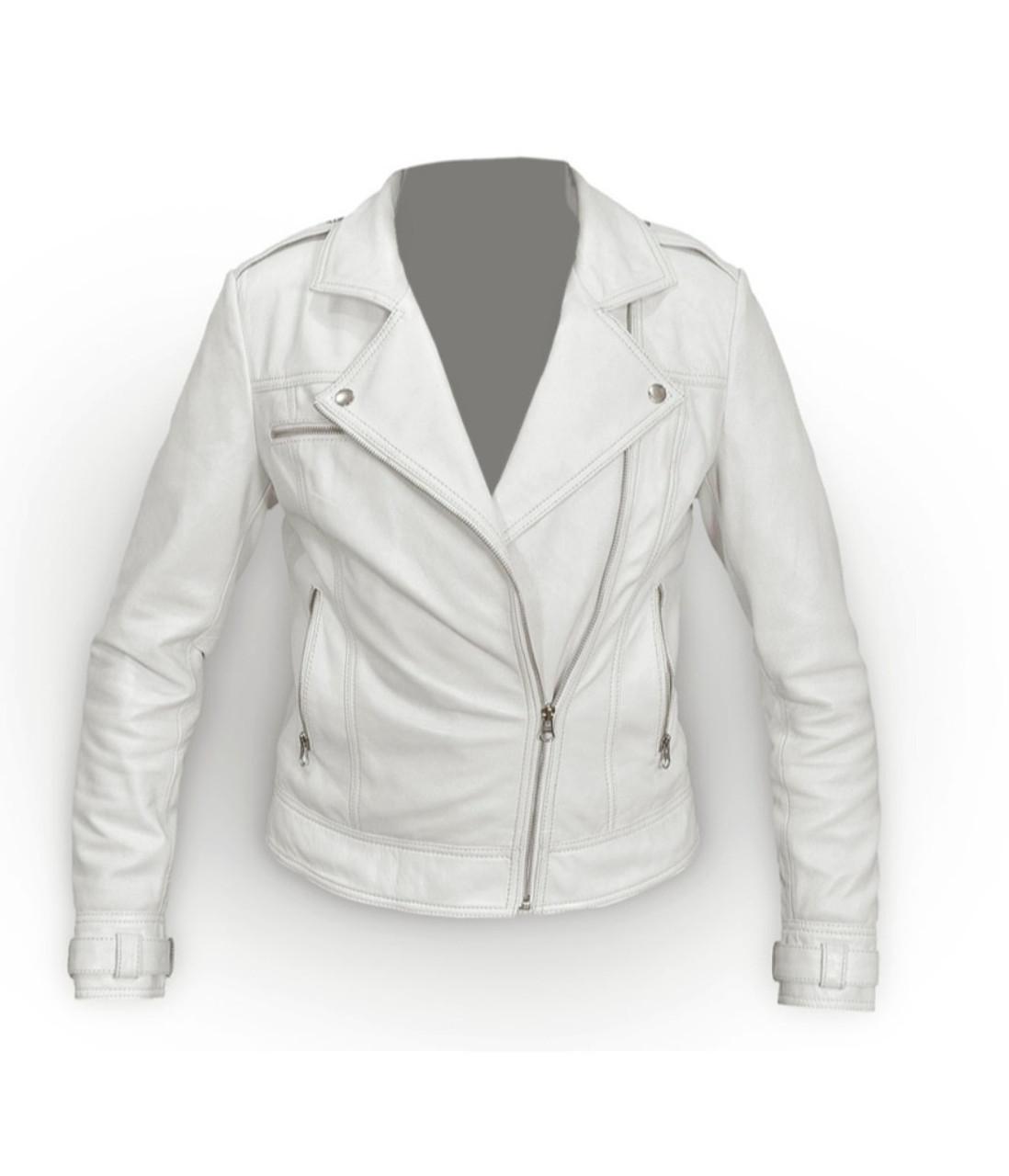 22fa9e12f Women Perfecto White Leather Jacket