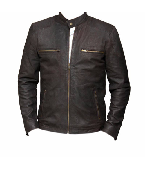 c5f13c894 David Beckham Real Leather Black Jacket | Feather Skin