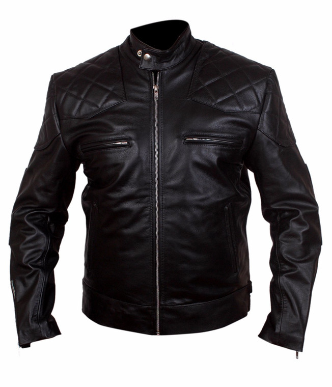 David Beckham Real Leather Black Jacket 1