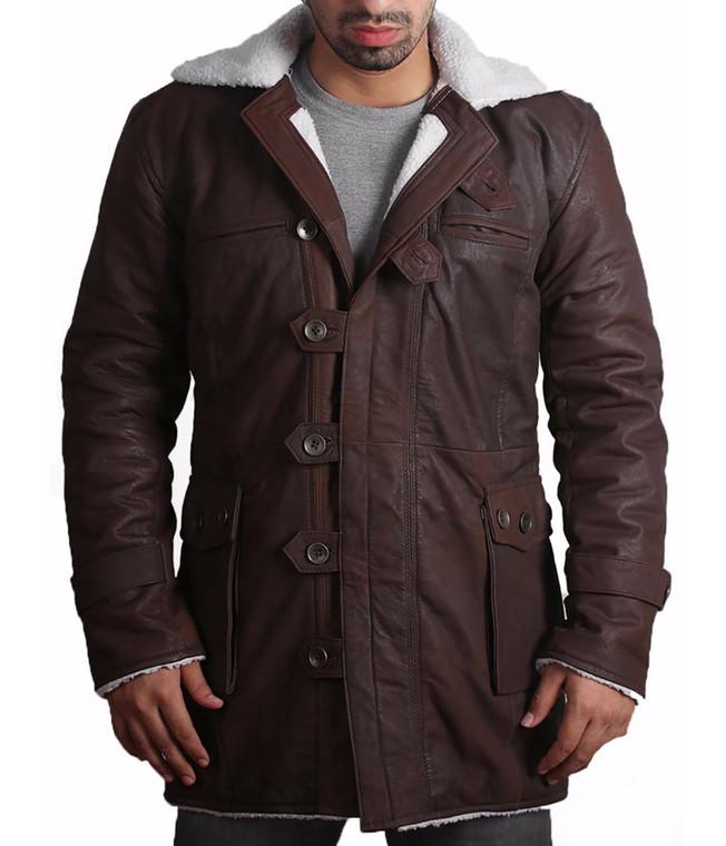 BANE Coat 'Tom Hardy - Dark Knight Rises' Choco Brown Leather Jacket 1