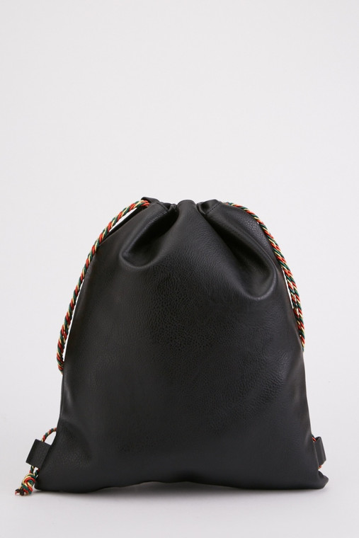 DRAWSTRING ROPE BACKPACK black