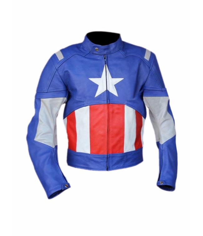 Captain America Chris Evans Steve Rogers Avengers Leather Jacket 1