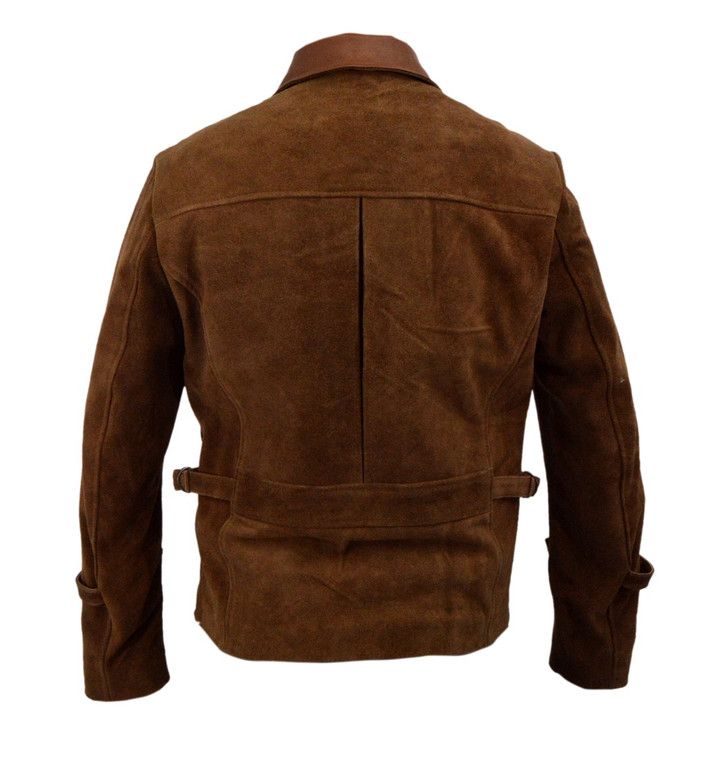 brad pitt leather jacket allied