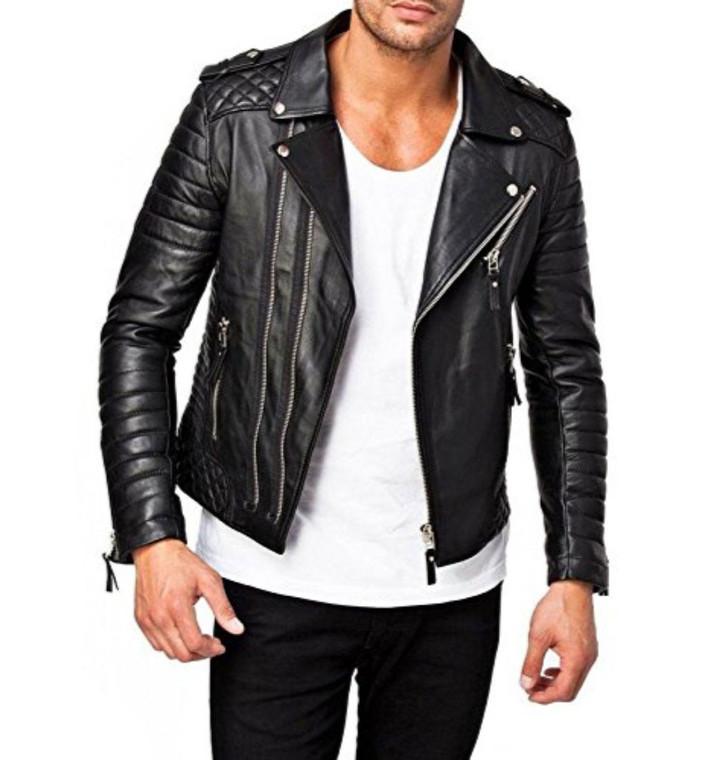 Motorbike Genuine Leather Jacket Black