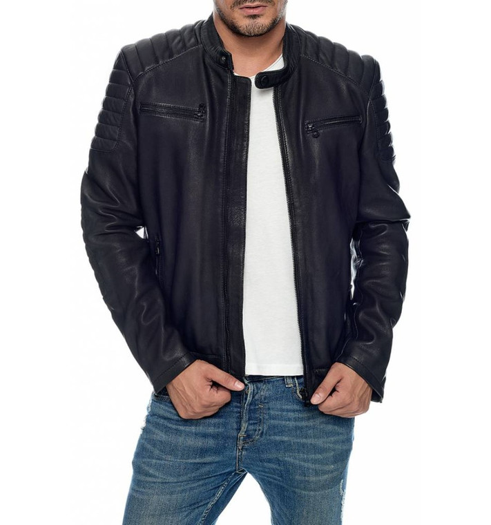 Men's Daytona Marwin Black Leather Jacket