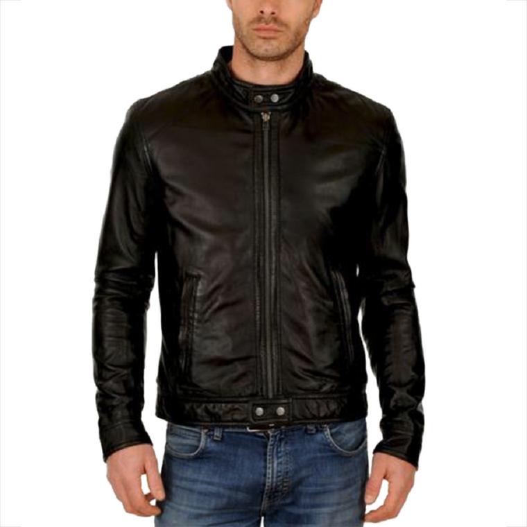 Men's Fashion Genuine Leather Jacket FSH010