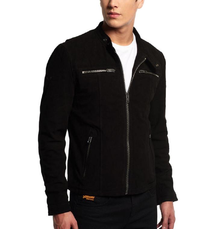 Men's Fashion Genuine Leather Jacket FSH136