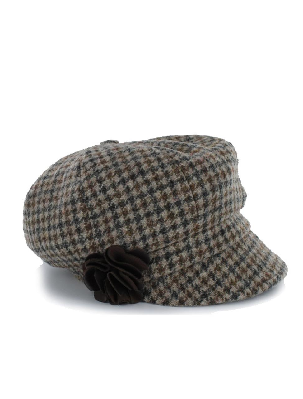 3c7d76e7ad0464 Vintage newsboy cap, Irish Wool Hats in Beige check | Clanarans