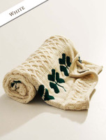 Merino Shamrock Baby Throw