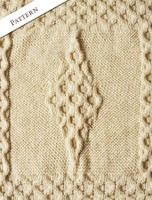 Pattern Detail from Merino Shamrock Baby Throw