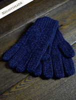 Adult Aran Gloves - Nightshade