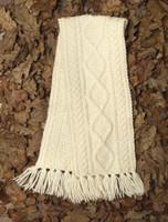 Children's Merino Wool Scarf - Natural White