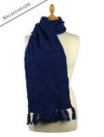 Aran Merino Wool Scarf - Nightshade