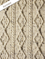 Pattern Detail of Diamond Aran Throw