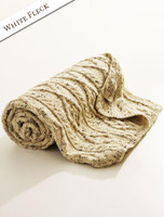 Diamond Aran Throw - White Fleck