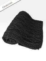 Diamond Aran Throw - Charcoal