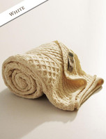 Luxury Merino Patchwork Throw - White