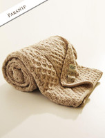 Luxury Merino Patchwork Throw - Parsnip