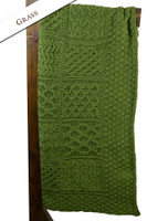 Luxury Merino Patchwork Throw - Grass