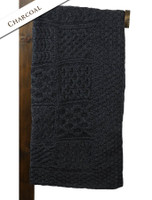 Luxury Merino Patchwork Throw - Charcoal