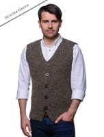 Men's Sweater Vest with Buttons - Hunter