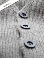 Button Detail from Men's Sweater Vest with Buttons
