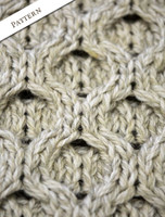 Pattern Detail of Women's Merino Aran Sweater