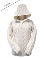 Extra Soft Merino Zip Hoodie - Natural White
