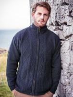 Windproof Aran Style Jacket - Nightshade