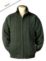 Windproof Aran Style Jacket - Fern