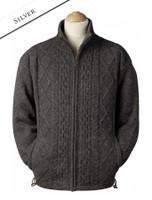 Windproof Aran Style Jacket - Silver