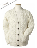 The Grandfather Cardigan - Natural White