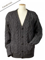 The Grandfather Cardigan - Charcoal