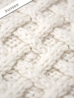 Pattern Detail of Women's Handknit Cropped Patchwork Cardigan