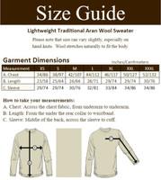 Lightweight Traditional Aran Wool Sweater